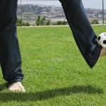 Fussballtourist in Spanien